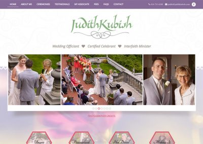 Judith Kubish, wedding officiant