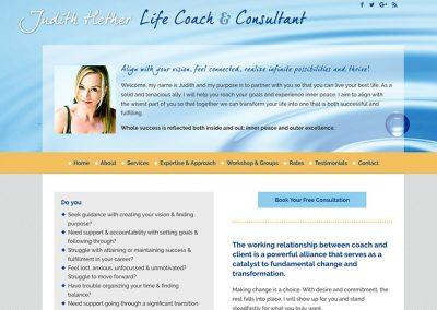 Judith Hether, Life Coach & Consultant